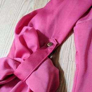 New York & Company Tops - Pink tab sleeve blouse
